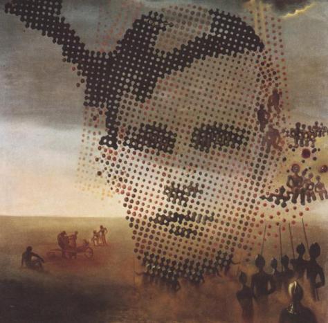 retrato dali